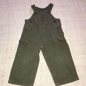 Carhartt green overalls with inside leg snaps